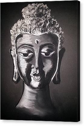 Buddha Sketch Canvas Print - The Path by Vidya Vivek