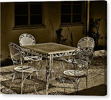 The Patio Canvas Print by Camille Lopez