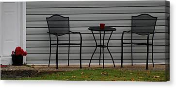The Patio In Living Color Canvas Print by Rob Hans