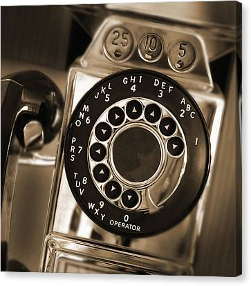 The Pay Telephone Canvas Print by Mike McGlothlen