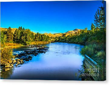 The Peaceful And Beautiful Payette River Canvas Print by Robert Bales