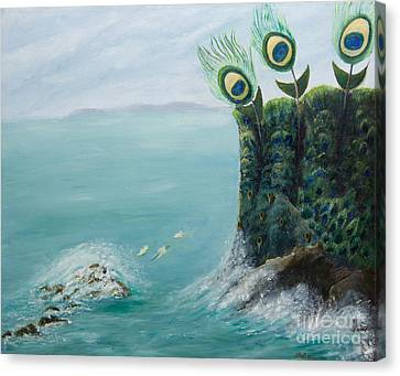 The Peacock Cliffs Canvas Print