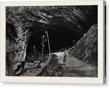 The Peak Cavern, Uk, Great Britain, United Kingdom Canvas Print by English School