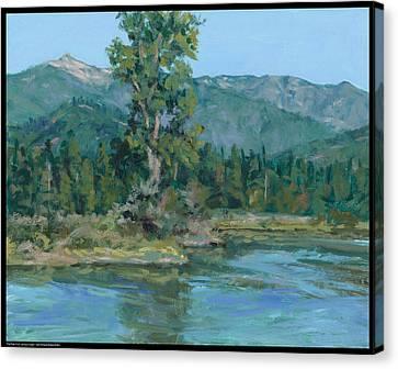 The Peak From Johnson Creek Canvas Print