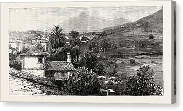 The Peak Of Tenerife From Icod De Los Vinos Canvas Print