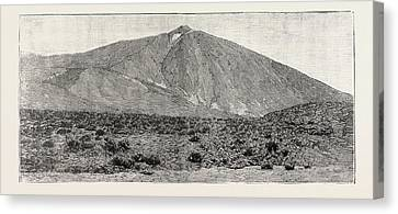 The Peak Of Tenerife, From The Canadas On The South Canvas Print