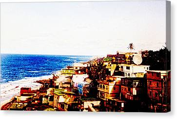 The Pearl Of Old San Juan Canvas Print by Sandra Pena de Ortiz