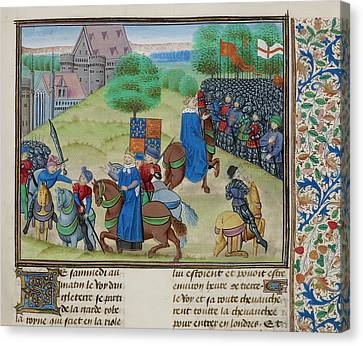 The Peasants' Revolt In England In 1381 Canvas Print by British Library
