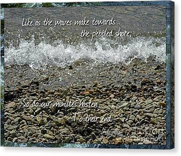 Shakespear Canvas Print - The Pebbled Shore 2 by Joan-Violet Stretch