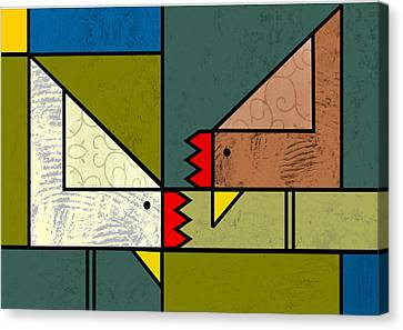 The Pecking Order Canvas Print by Kenneth North