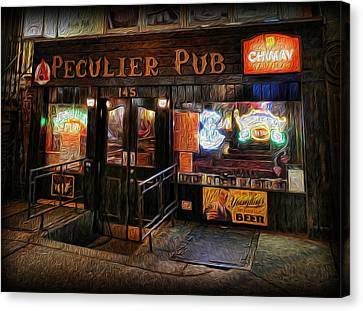 The Peculier Pub Canvas Print by Lee Dos Santos