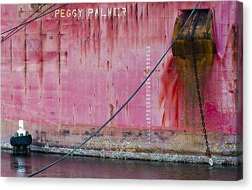 The Peggy Palmer Barge Canvas Print by Carolyn Marshall