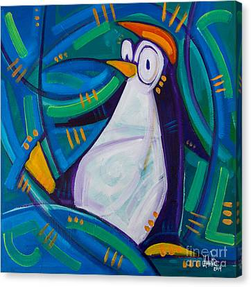 The Penguin Canvas Print by Michael Ciccotello