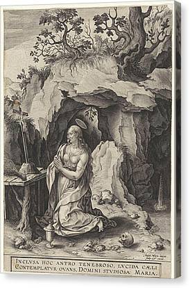 The Penitent Mary Magdalene, Antonie Wierix II Canvas Print