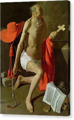 The Penitent St Jerome  Canvas Print by Georges de la Tour