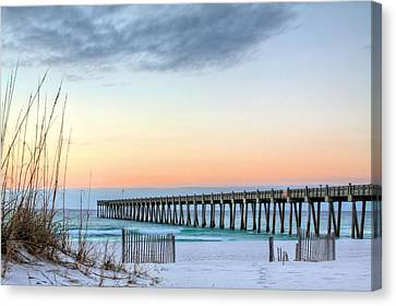 The Pensacola Beach Pier Canvas Print by JC Findley
