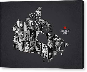 The People Of Canada Canvas Print by Aged Pixel