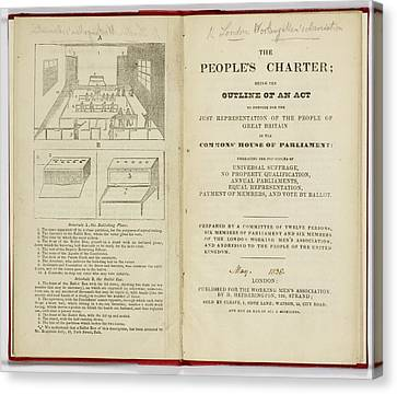 The People's Charter Frontispiece Canvas Print