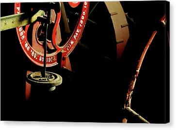 The Perfect Balance - Vintage Scales And Wheels Canvas Print by Steven Milner