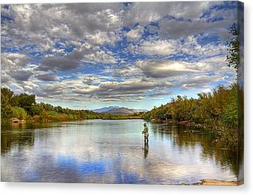 The Perfect Fishing Spot Canvas Print
