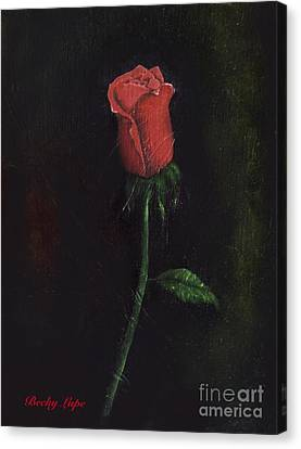 The Perfect Rose Canvas Print by Becky Lupe
