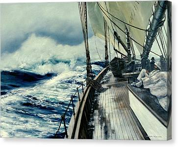 The Perfect Storm Canvas Print by Michael Swanson