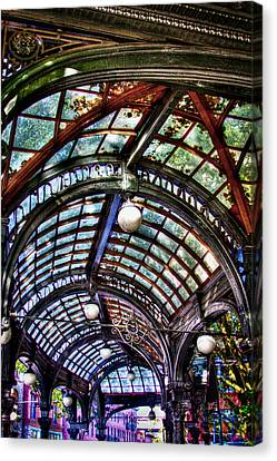 The Pergola Ceiling In Pioneer Square Canvas Print