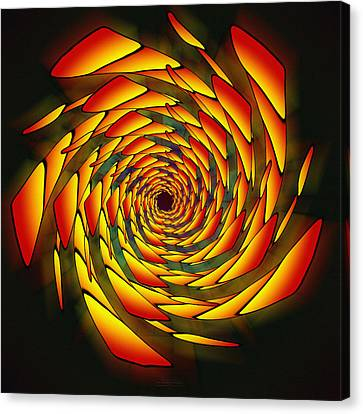 Canvas Print featuring the drawing The Phi Stargate by Derek Gedney