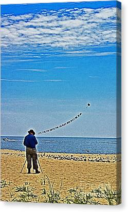 Shoreline Old Men Canvas Print - The Photographer by Tom Gari Gallery-Three-Photography