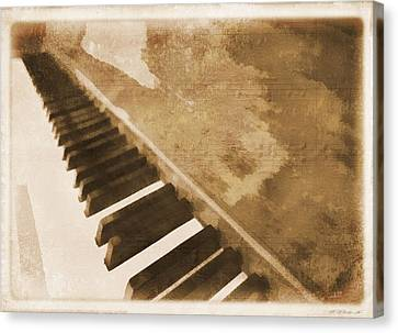 Classical Music Canvas Print - The Piano by Dan Sproul