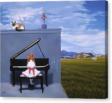 The Piano Player Canvas Print by Michael Bridges