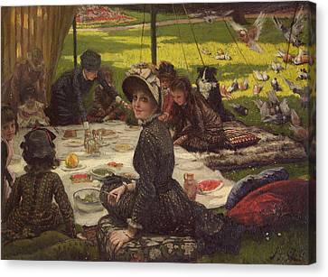 The Picnic Dejeuner Sur Lherbe, C.1881-2 Panel Canvas Print by James Jacques Joseph Tissot