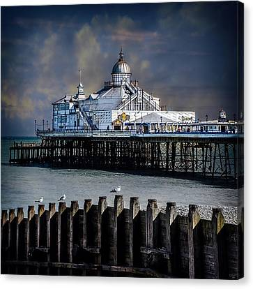 The Pier At Eastbourne Canvas Print by Chris Lord