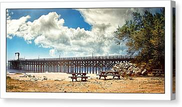Canvas Print featuring the photograph The Pier At Gaviotta by Steve Benefiel