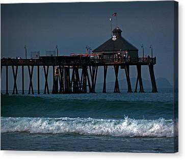The Pier At Imperial Beach Canvas Print by Steve Battle