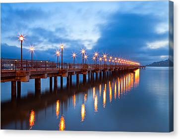 Canvas Print featuring the photograph The Pier by Jonathan Nguyen