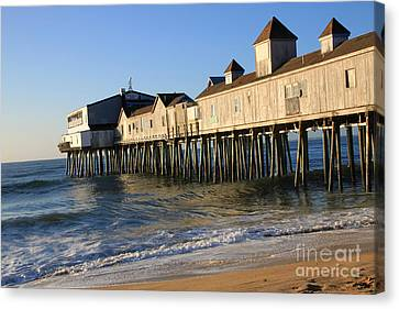The Pier Canvas Print by Michael Mooney
