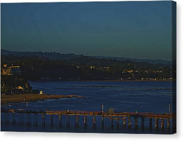 Canvas Print featuring the photograph The Pier by Tom Kelly