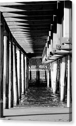 The Pier Canvas Print by Tommytechno Sweden
