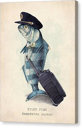 Fish Canvas Print - The Pilot by Eric Fan
