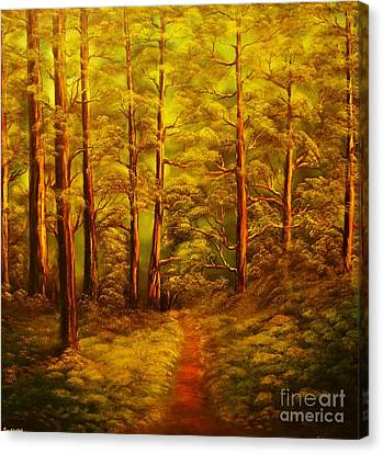 The Pine Tree Forest-original Sold-buy Giclee Print Nr 34 Of Limited Edition Of 40 Prints  Canvas Print