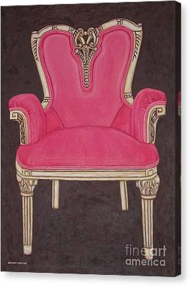 The Pink Chair Canvas Print by Margaret Newcomb
