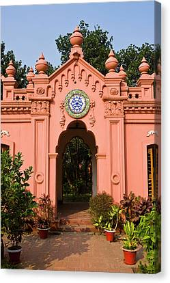 The Pink Colored Ahsan Manzil Palace Canvas Print by Michael Runkel