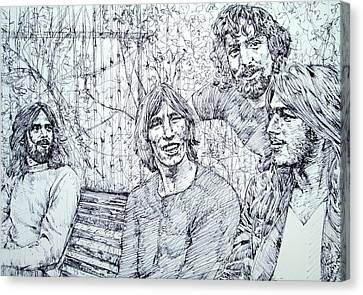 the PINK FLOYD  - drawing portrait Canvas Print by Fabrizio Cassetta