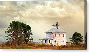 The Pink House Canvas Print by Karen Lynch