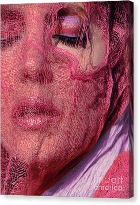 The Pink Scarf Canvas Print by Jeff Breiman