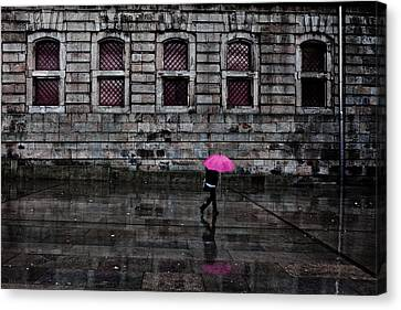 The Pink Umbrella Canvas Print by Jorge Maia