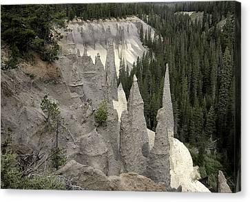 The Pinnacles At Crater Lake Canvas Print