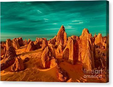 The Pinnacles Desert Canvas Print by Julian Cook