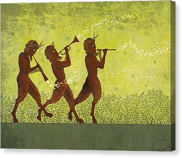 Centaur Canvas Print - The Pipers 3 by Dennis Wunsch